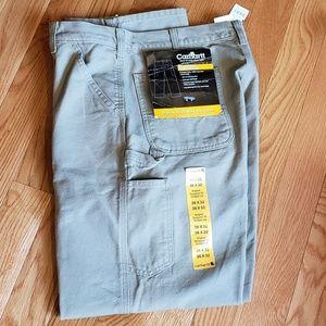 Carhartt NWT washed duck khaki work pants 36x32